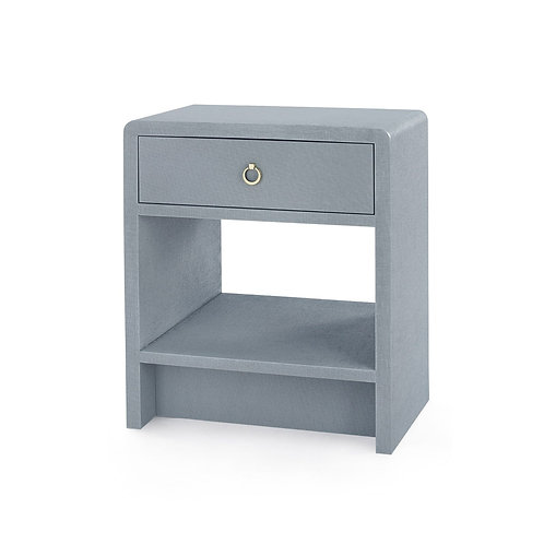 BENJAMIN 1-DRAWER SIDE TABLE, GRAY