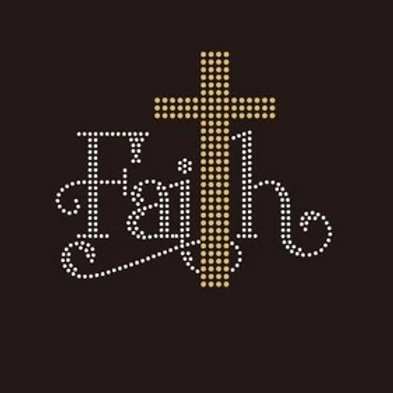 Faith Cross Bling Shirt