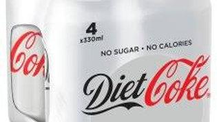 DIET COKE 4X330ML