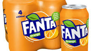 FANTA 4PK 330ML CANS
