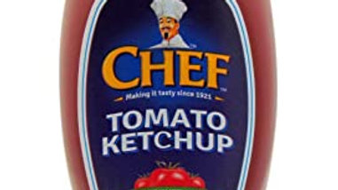 CHEF TOMATO KETCHUP (SQUEEZY) 495G