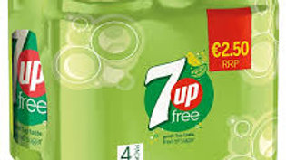 7UP FREE CAN 4 PACK 330ML