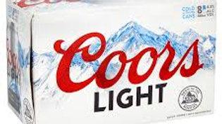 Coors Light Can 8pk