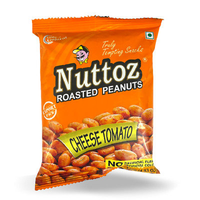 NUTTOZ ROASTED PEANUT CHEESE TOMATO 32X140 GM