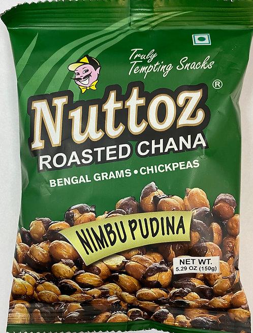 NUTTOZ ROASTED CHANA NIMBU PUDINA 28 X 150 GM