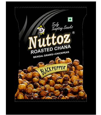 NUTTOZ ROASTED CHANA BLACK PEPPER 28X150 GM
