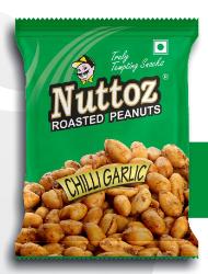 NUTTOZ ROASTED PEANUT CHILLI GARLIC 32X140 GM
