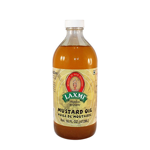 LAXMI MUSTARD OIL 12X8 OZ (236 ML)