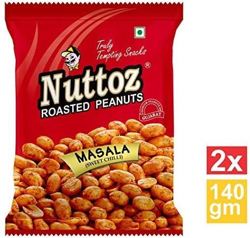 NUTTOZ ROASTED PEANUT MASALA 32X140 GM