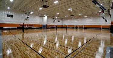 Volleyball court setup