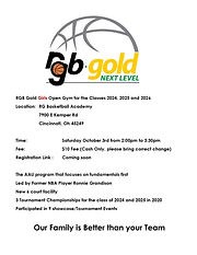 RGB Gold Girls Basketball Open Gym
