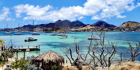 View from Pinel Island, Saint Martin