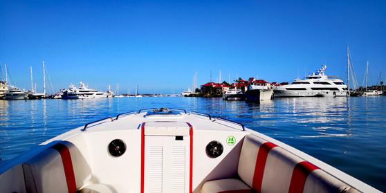 Yachts in Simpson Bay Lagoon