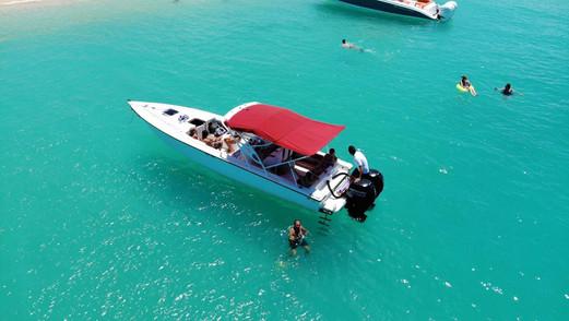 Swimming in Tintamarre Island