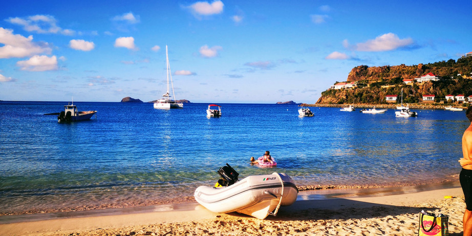 View from Saint Jean Beach, St Barth
