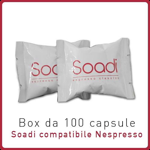 100 capsule Espresso Soadi compatibile Nespresso