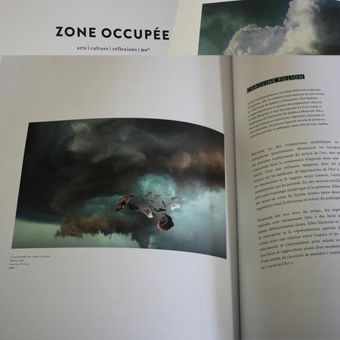 Décembre 2018- Caroline Fillion, dossier portefolio, revue Zone occupée, Palimpseste, #16, pages 42 à 45