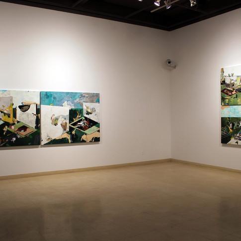 Vue de l'exposition Hommages après ouragan, Centre des arts de Chicoutimi, janvier 2019