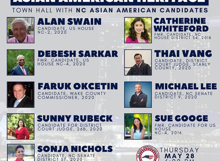 Join Michael Thursday for an Asian American Heritage Candidate Forum!