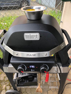 Weber Grill in Aktion