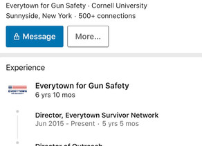 """Everytown operatives now getting into the """"COVID Survivors"""" advocacy game"""