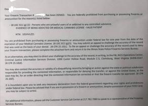 Have a medical marijuana card in IL? Buy a gun through a through a FFL and this can happen