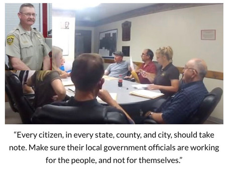 Is your county board not allowing constituents to speak and changing the rules?  ARREST THEM