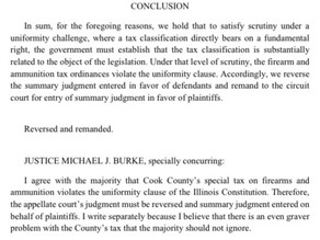 Cook County, IL gun and ammo tax ruled unconstitutional by IL Supreme Court