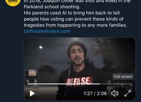Anti-gun parents use CGI to bring back their deceased son and push for gun control via voting