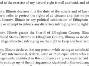 Effingham County, IL isn't screwing around anymore: enforce gun control and you're subject to arrest