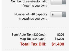 Calculate what you'll need to pay to legally keep your semi-auto rifles/mags under Biden's gun plan