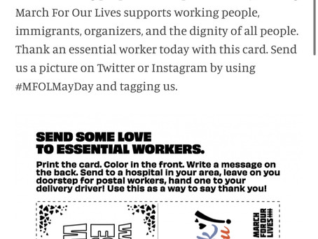 "March For Our Lives promoting ""May Day"", a Communist holiday"