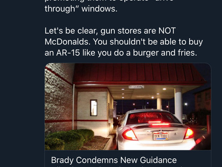 Oh nooooos. Anti-gunners are mad about drive-through FFL's  (ATF approved) in response to COVID-19