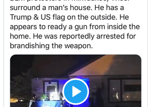 Milwaukee man reportedly arrested after being armed inside his home while BLM/Antifa threaten him