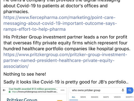 Illinois: Governor Pritzker backed companies profiting off of COVID-19