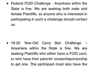 Attention Illinois residents: ISRA, FPC and 2AF seeking potential plaintiffs for 3 lawsuits