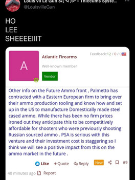 Palmetto State Armory says F U to Biden/bringing over ammo tooling equipment from E. Europe