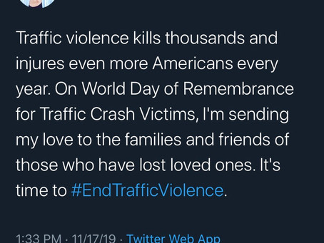 "Now I've seen everything: Elizabeth Warren calls for an end to ""traffic violence"""