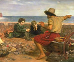 Storytelling- J. E. Millais_Boyhood_of_R