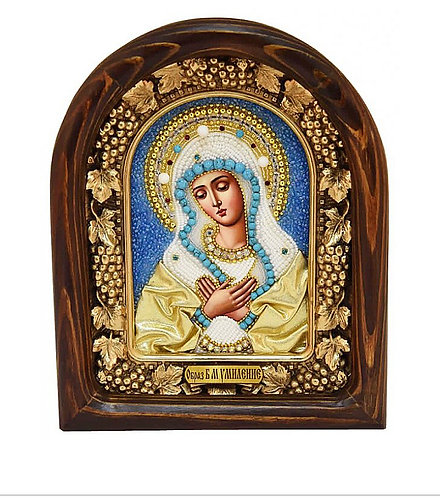 The Virgin Mary of Tenderness Beads Icon