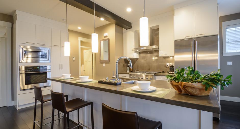 Modern, bright, clean, kitchen interior