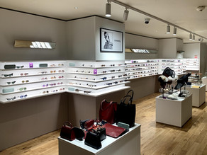 Specialist finishes for Liberty London's Sunglasses Department