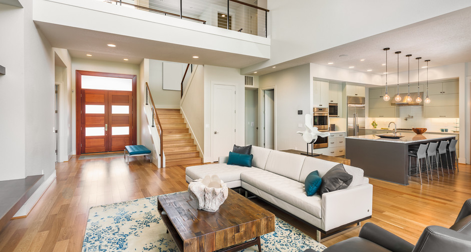Large living room interior