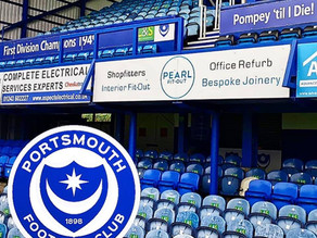 Portsmouth FC - PEARL's new Advertising board is up!