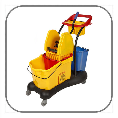 33L Server Mopping Trolley Complete