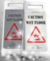 Hectoserve Deluxe Stainless Steel and Aluminium Wet Floor Signs
