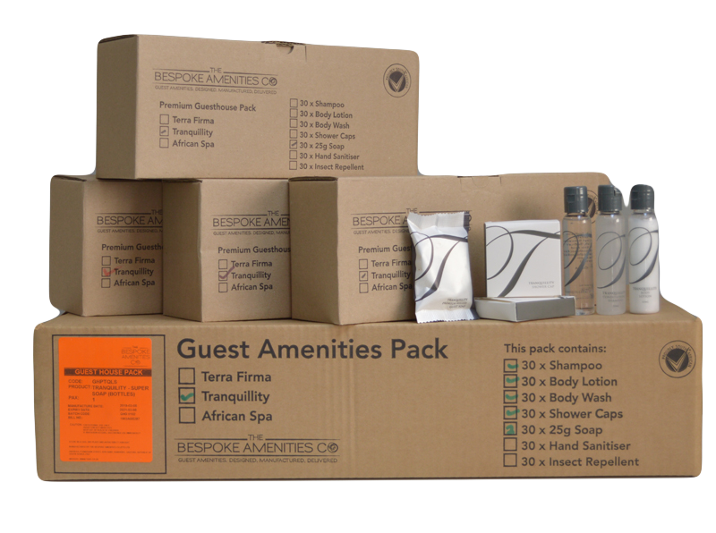Tranquillity Guesthouse Pack Boxes