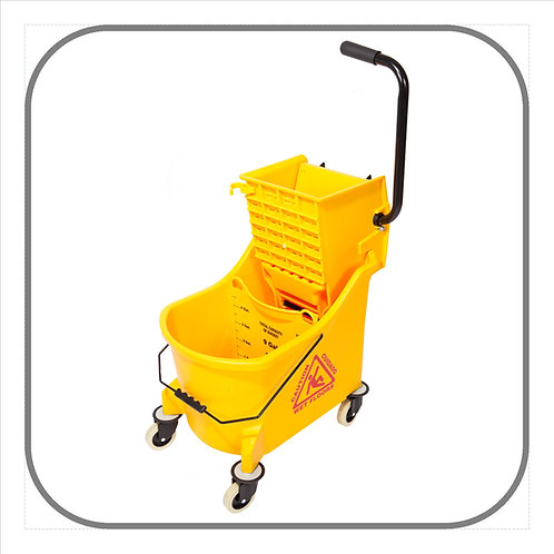 33L Maxi Single Mop Bucket with Divider and Wringer