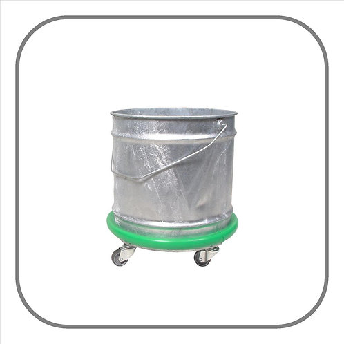 28L Galvanised Mop Bucket on Castors