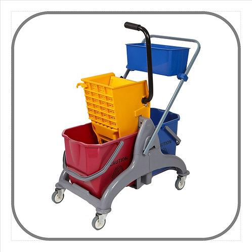 50L Double Saul Mop Trolley